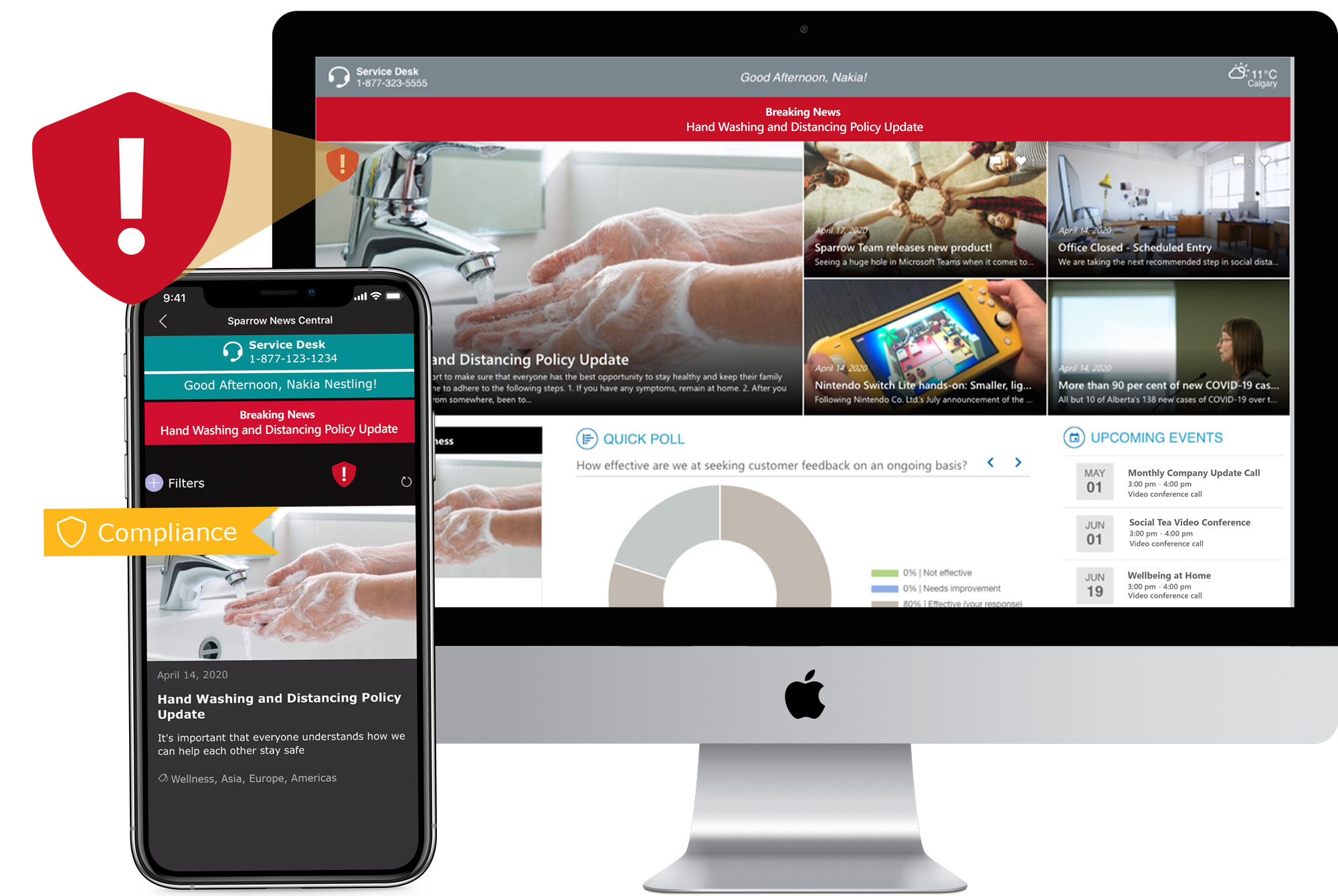 Integrated with your intranet for a cohesive experience